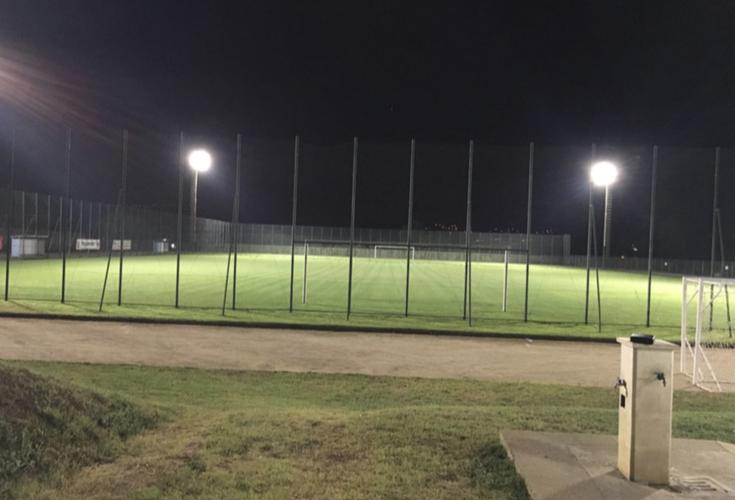 illuminazione led campi di calcio