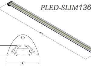 plafoniera led pled-slim136