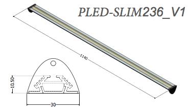 Plafoniera led Pled-slim236v1