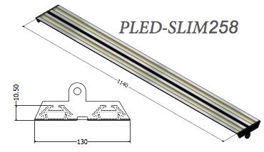 plafoniera led pled-slim258