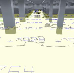 vista 3d dell'illuminazione di un Megastore