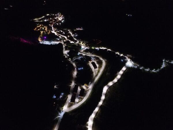 pubblica illuminazione Santa paolina vista dall'alto