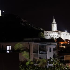 illuminazione di un edificio storico