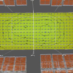 illuminamento medio di un campo da tennis