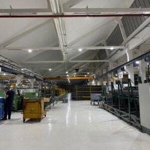 Illuminazione di opificio industriale a Torino